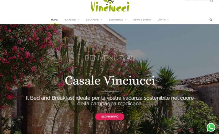 nuovo sito web B&B Vinciucci a Modica